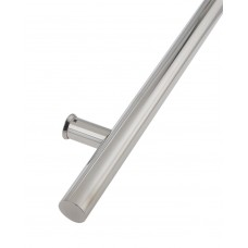 Door Single Pull Handle Inline 1200mm BOLT FIX 304 SS