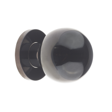 Ball Shaped Door Center Knob 55mm Diameter Black Nickel Stainless