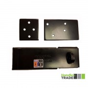 Federal Straight Bar Hasp and Staple Black