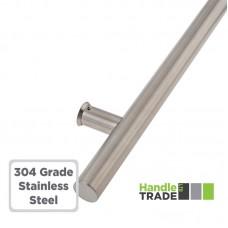 Door Single Pull Handle Inline 1200mm BOLT FIX 304 SS