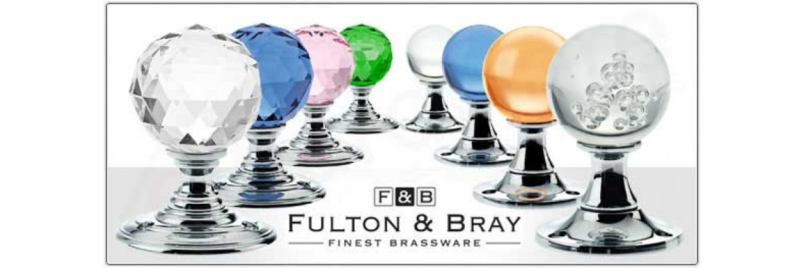 Fulton & Bray Brass Glass Door Knobs and Cabinet Hardware