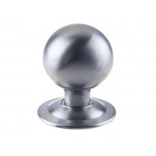 Large Ball Shaped Door Center Knob 70mm Diameter Satin Chrome