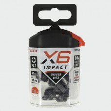 X6 Impact Pozi Driver Bit 25mm long PZ1