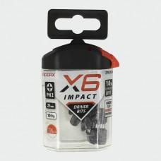 X6 Impact Pozi Driver Bit 25mm long PH2