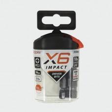 X6 Impact Pozi Driver Bit 50mm long PZ2