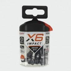X6 Impact Pozi Driver Bit 25mm long PZ3