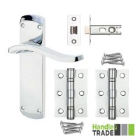HT Door Handle Latch & Hinge Set 100 CP