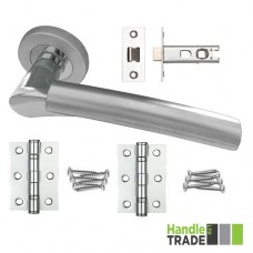 HT Rose Door Handle, Latch & Hinge Set 200 CPSC