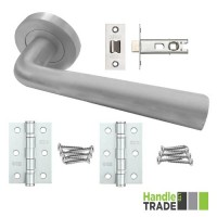 HT Rose Door Handle, Latch & Hinge Set 201 SC