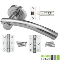 HT Rose Door Handle, Latch & Hinge Set 202 CP