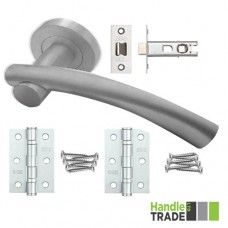 HT Rose Door Handle, Latch & Hinge Set 202 SC
