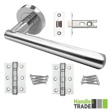 HT Rose Door Handle, Latch & Hinge Set 203 CP