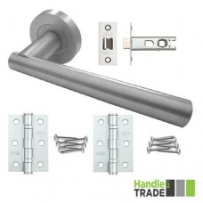 HT Rose Door Handle, Latch & Hinge Set 203 SC