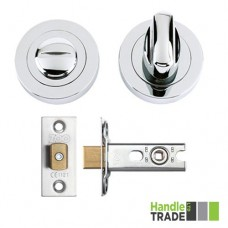 HT Bathroom Door Turn & Release Kit 50mm Dia. CP