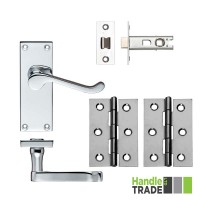 HT Door Handle Latch & Hinge Set 022 CP