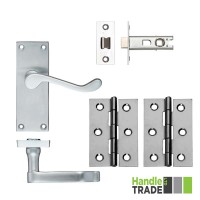 HT Door Handle Latch & Hinge Set 022 SC