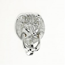 "Mila - Lion Head Door Knocker 4"" in Polished Chrome - 590201"