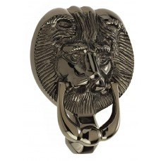 "Mila - Lion Head Door Knocker 6"" in Smokey Chrome - 590225"