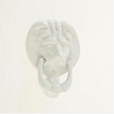 "Lion Head Door Knocker 4"" in White"