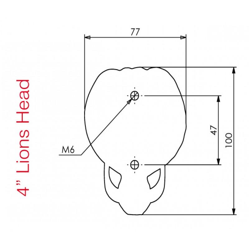 Lion Head Door Knocker 4 In Black 590207
