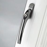 Pro Linea Window Espag Handle Inline 40mm Locking Smokey Chrome