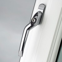 Pro Linea Window Espag Handle LH Cranked 40mm Locking CP