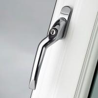 Pro Linea Window Espag Handle LH Cranked 40mm Locking CP