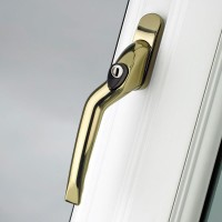 Pro Linea Window Espag Handle LH Cranked 40mm Locking PG
