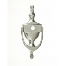 "Mila - Victorian Urn Door Knocker 6"" C/W Spy Hole in Satin Chrome - 590023-592023"