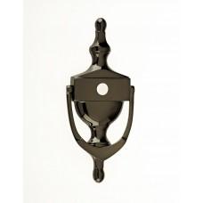 """Mila - Victorian Urn Door Knocker 8"""" C/W Spy Hole in Smokey Chrome - 590065-592025"""