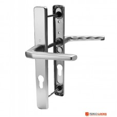 Hoppe PZ70 Door Handle 245mm Backplate Anodized Silver