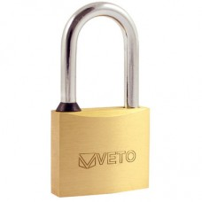 Timco Veto Brass 40mm Padlock - Long Shackle P40L