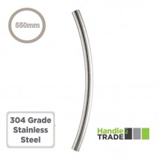 Composite Door B to B Pull Handle Curve 550mm 304 SS