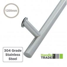 Composite Door Single Pull Handle Cranked 1200mm BOLT FIX 304 SS