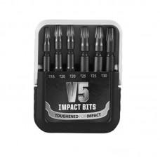 V5 Addax Impact Torx Mixed Bit Set 6 Piece