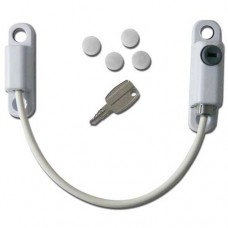 Cable Window Restrictor 150mm Lockable Lock White