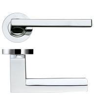 Acerra Door Handle on Round Rose 50mm Rose CP