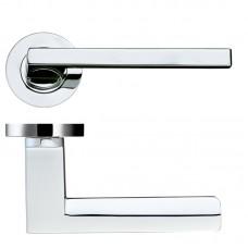 Zoo Hardware - Acerra Door Handle on Round Rose 50mm Rose CP - DAT070CP