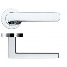 Pesaro Door Handle on Round Rose 50mm Rose CP