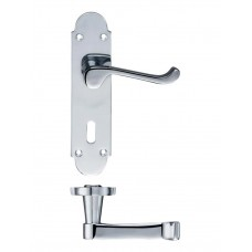 Fulton & Bray - Oxford Lever Lock Door Handle 42 x 170mm CP - FB011CP