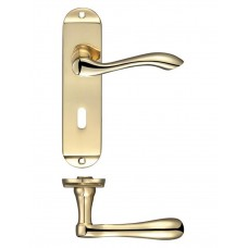 Arundel Lock Door Handle 42 x 170mm PB