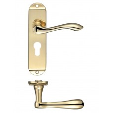 Arundel Euro Lock Door Handle 42 x 170mm PB
