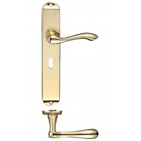 Arundel Lock Door Handle 42 x 245mm PB