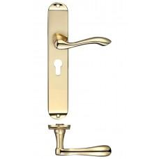 Fulton & Bray - Arundel Euro Lock Door Handle 42 x 245mm PB - FB031EP