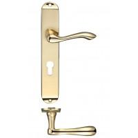 Arundel Euro Lock Door Handle 72mm c/c 42 x 245mm PB