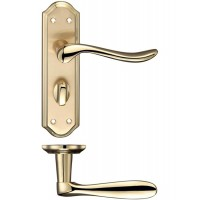 Lincoln Lever Bathroom Door Handle 48 x 180mm SBPB