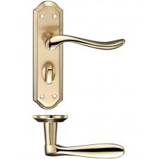 Fulton & Bray - Lincoln Lever Bathroom Door Handle 48 x 180mm SBPB - FB043SBPB