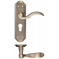 Winchester Lever Euro Lock Door Handle 48 x 180mm FB