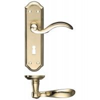 Winchester Lever Lock Door Handle 48 x 180mm SBPB