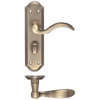 Winchester Lever Bathroom Door Handle 48 x 180mm FB